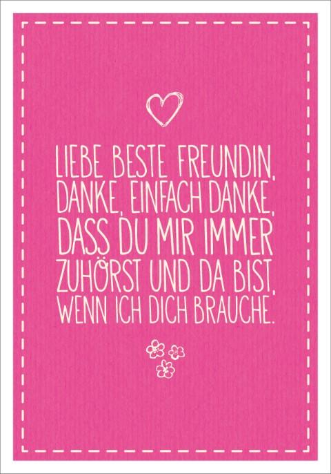 Postk Lq Liebe Beste Freundin Postkarten Karten Littlepaper