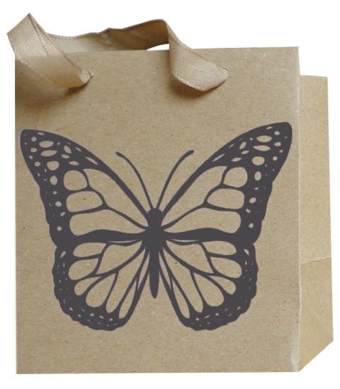 Schmetterling Bag schwarz 12x12x8cm