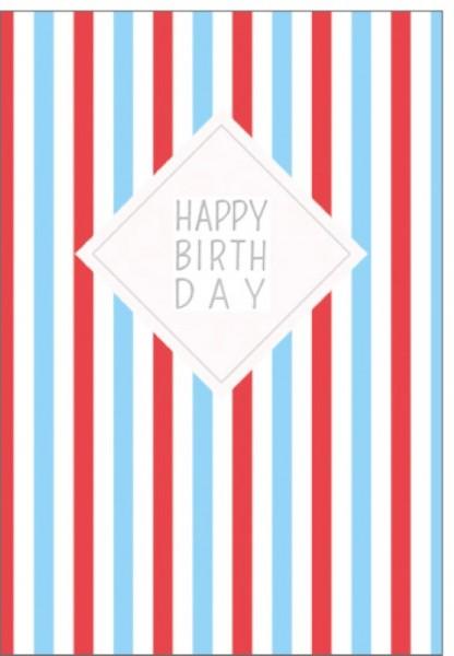 Umschlagkarten Happy Birthday bunt