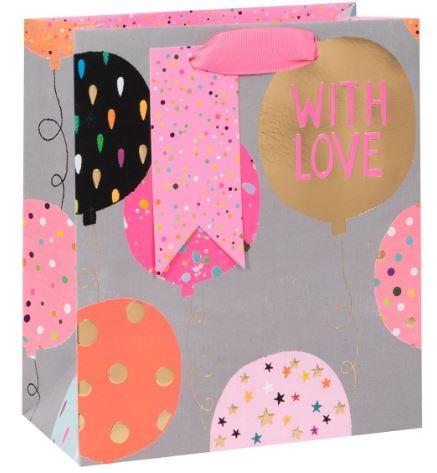 Luftballons pink Bag medium