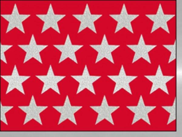 Minik. Sterne rot silber