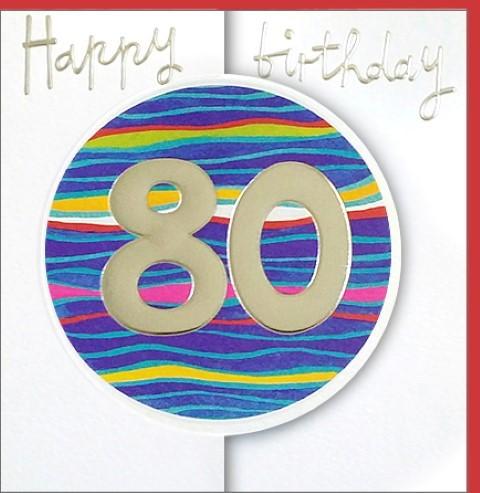 Umschlagk. Happy Birthday 80