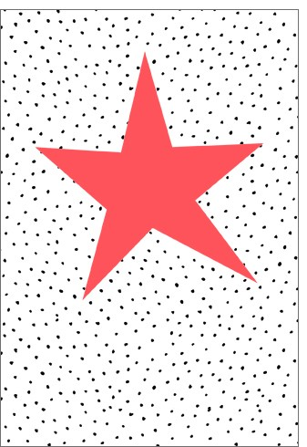 Umschlagk. NP Stern auf Punkte orange