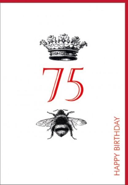 Umschlagk. Happy Birthday Krone 75