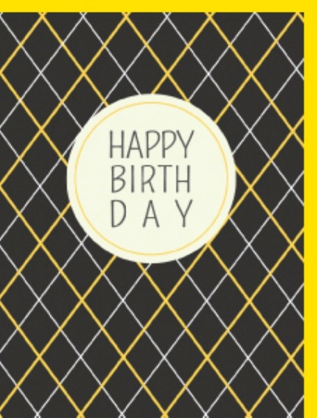 Minik. Grey Yellow Squares H.B