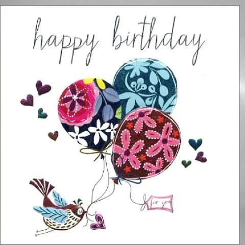 Umschlagk. Birthday Balloons