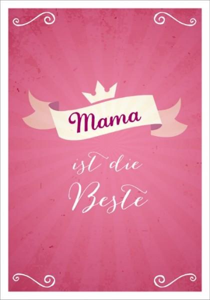 Postk. LQ Mama ist die Beste