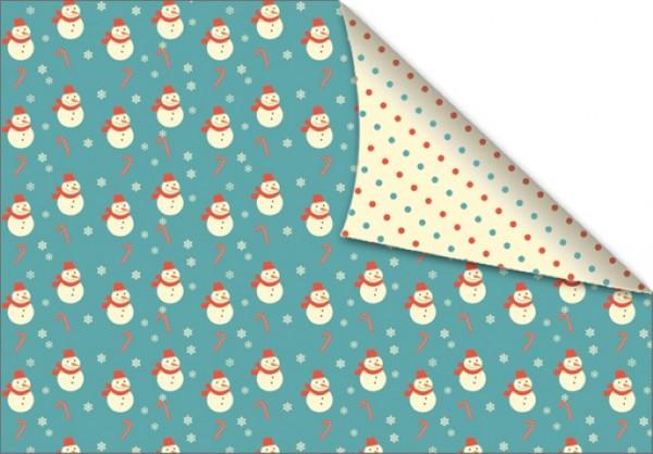 Snowman & Dots 50x70