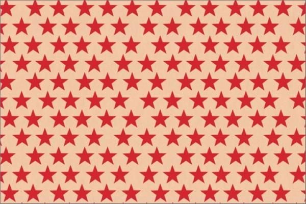Sterne kraft rot 50x70