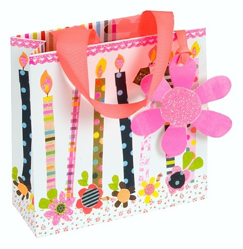 Happy Birthday Kerzen Bag mini