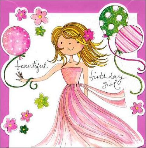 Umschlagk. Beautiful Birthday Girl