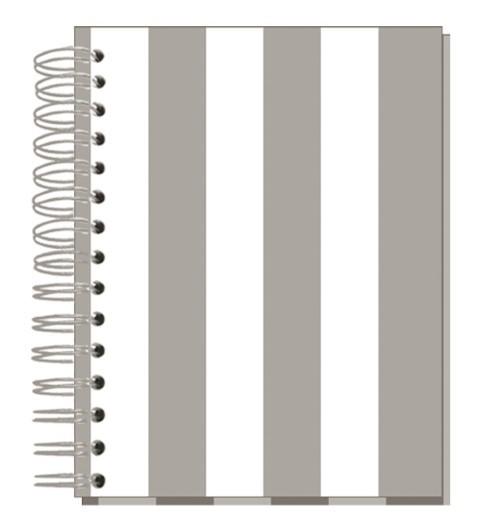 Buch 12x15 Streifen Taupe