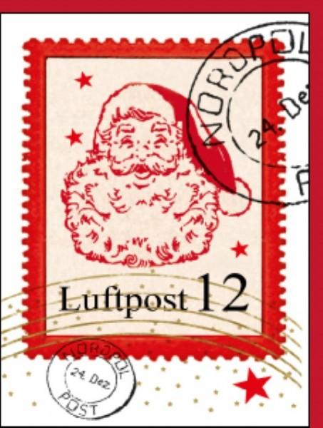 Minik.Weihnachtsmann Briefmarke