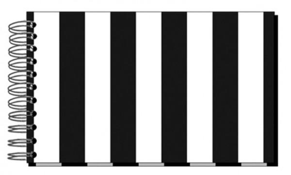 Fotoalbum 13x18 Streifen schwarz