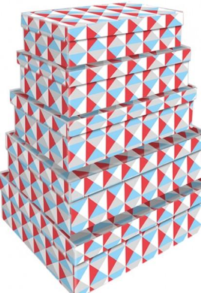 Rechteck Bunte Dreiecke 5tlg. groß