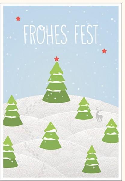 Umschlagk. Frohes Fest Winterlandschaft