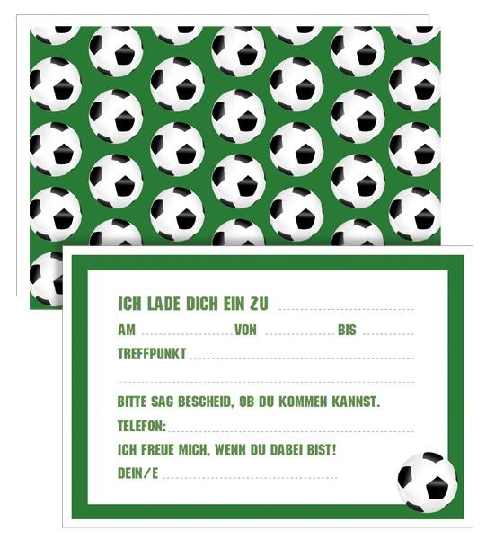 Einladungskarten Fußball 5x5