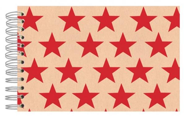Fotoalbum 13x18 Sterne kraft rot
