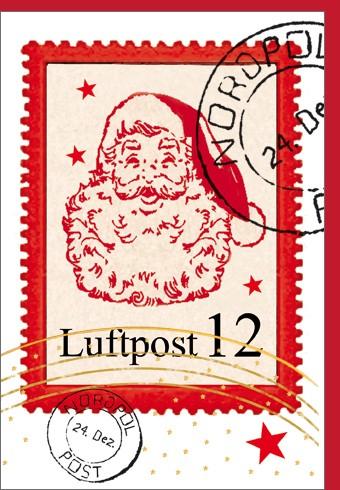 Umschlagk. Weihnachtsmann Briefmarke