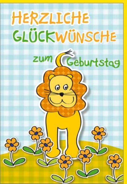 Umschlagk. Geburtstags-Löwe