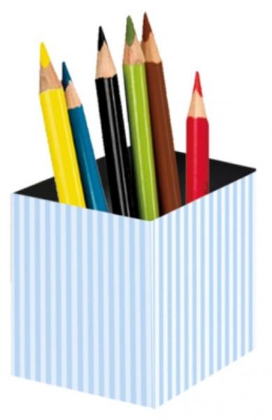Stifteköcher Streifen blau
