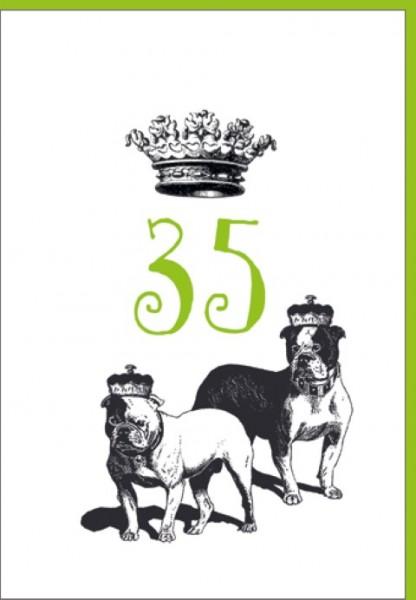 Umschlagk. Happy Birthday Krone 35