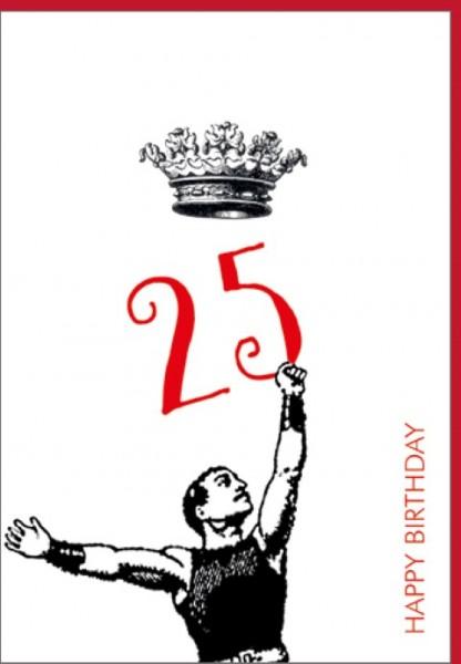 Umschlagk. Happy Birthday Krone 25