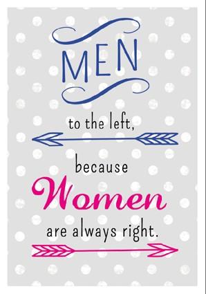 Postk. Vintage Men left - Women right