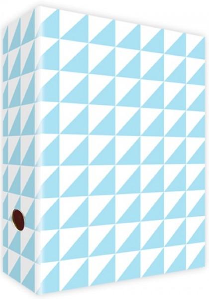 Ringordner A4 Dreiecke Hellblau