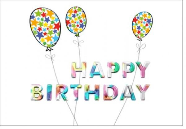 Umschlagk. Happy Birthday