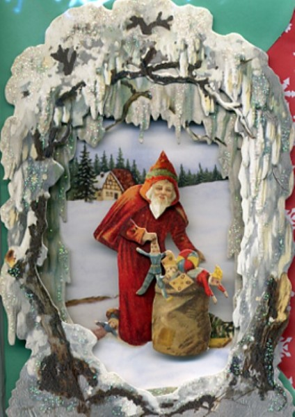 UK Winterlandschaft Santa and Sack
