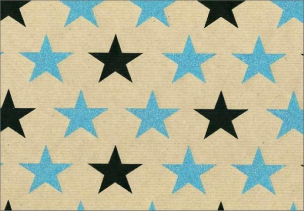 Glitter Sterne Kraft blau