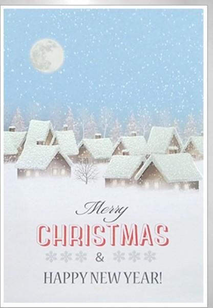 Umschlagk. Weihnachtsdorf mit Mond