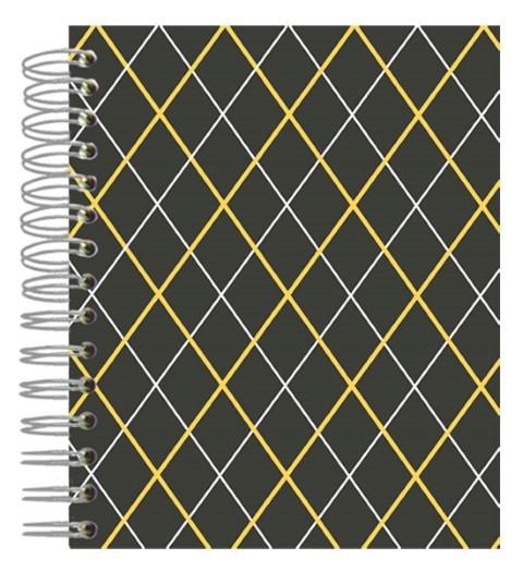 Buch A5 Grey Orange Squares