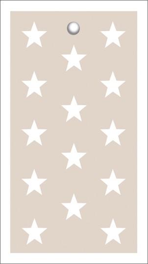 Tags Cream Stars