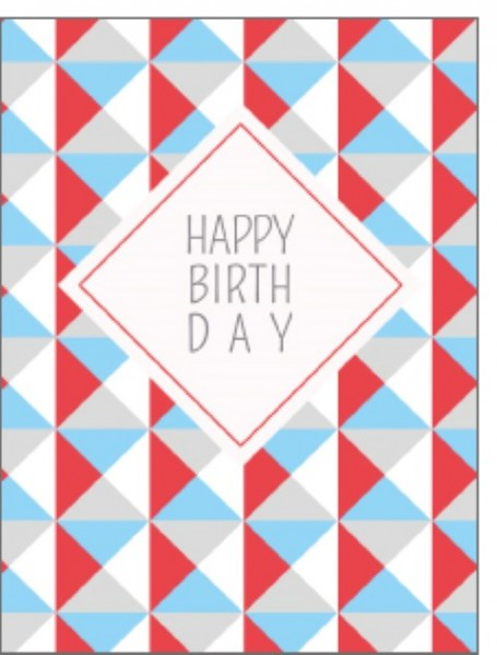 Minik. Happy Birthday bunte Dreiecke