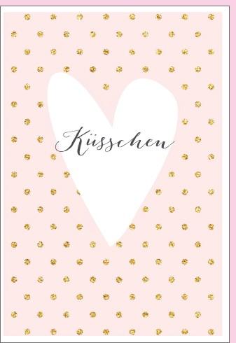 Umschlagk. pc Küsschen im Herz Twinkle