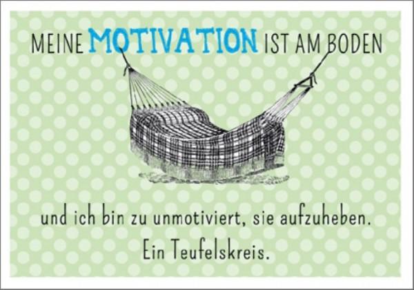Postk. Vintage Motivation am Boden