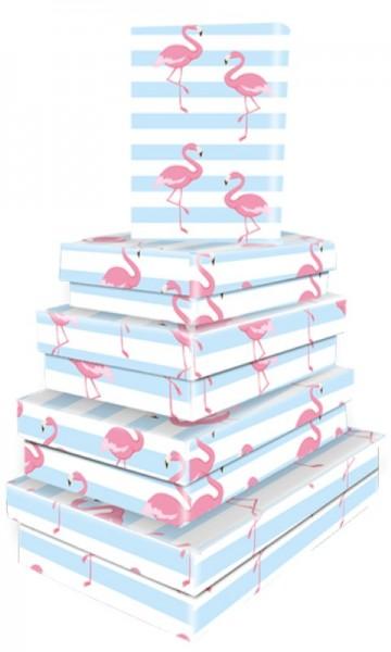 Kart. Recht. Flamingo 5tlg.