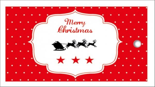 Tags Merry Christmas Schlitten