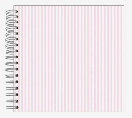 Fotoalbum 24x24 Streifen rosa