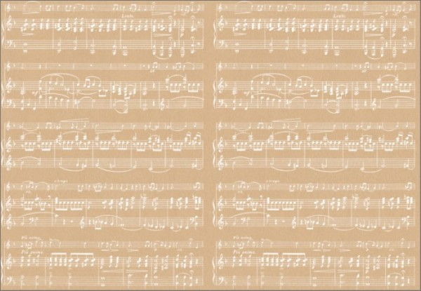 Music Sheet White 50x70
