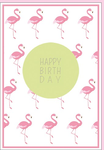 Umschlagk. Flamingo