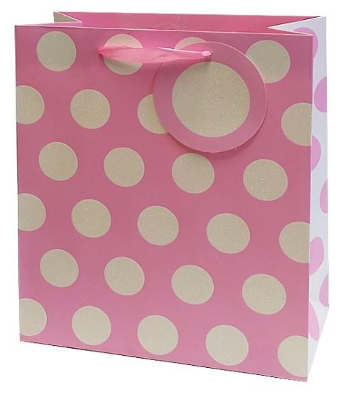 Rosa Punkte Bag Medium