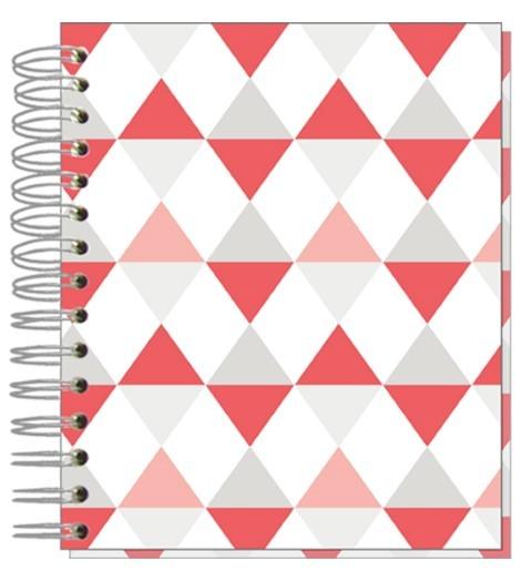 Buch A5 Dreiecke Pastell