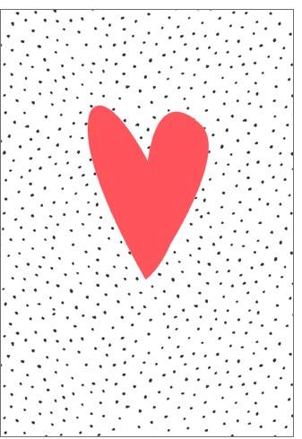 Umschlagk. NP Herz auf Punkte orange