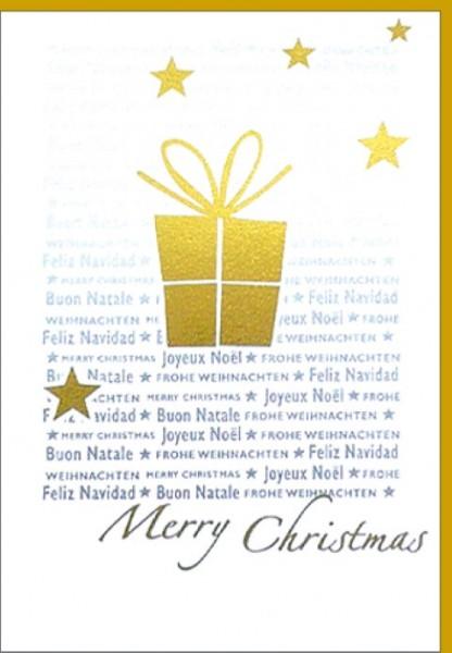 Umschlagk. Päckch. Merry Christmas