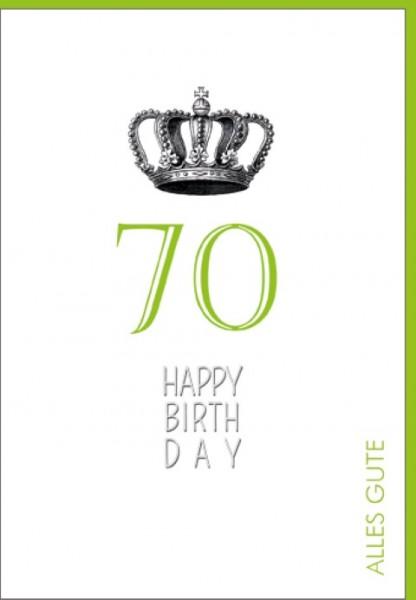 Umschlagk. Happy Birthday Krone 70