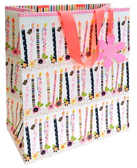 Happy Birthday Kerzen Bag large