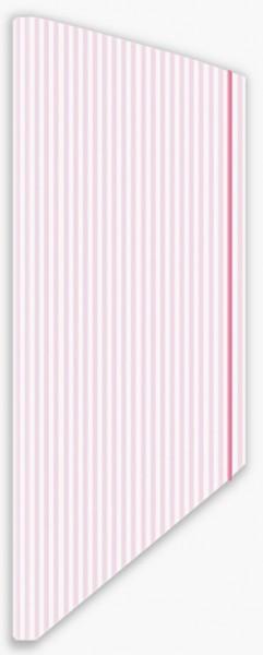 Eckspannmappe Streifen rosa